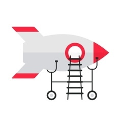 white rocket on repairs vector image