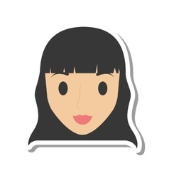 woman female girl isolated icon vector image