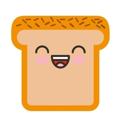 Bread character isolated icon vector