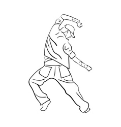 Hip-hop man dancer vector