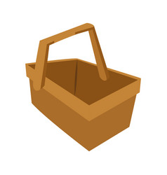 Isolated basket of picnic design vector