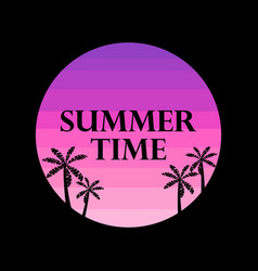 Summer time text on the background of the sun vector