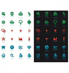 icon set for web design vector image