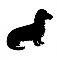 Badger dog silhouette vector