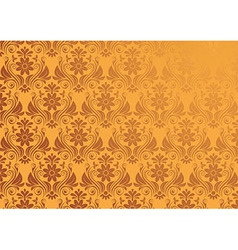 Vintage floral background in gold seamless vector