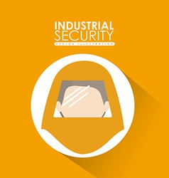 Industrial security design vector