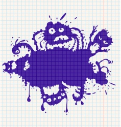 Ink monsters vector