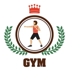 Gym design vector