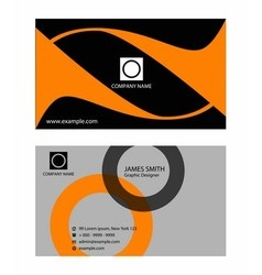 Collection vertical business cards element vector