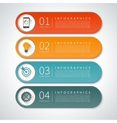 Infographic design banners set background vector
