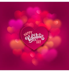 Greeting card for valentines day vector