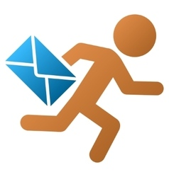 Child mail courier gradient icon vector