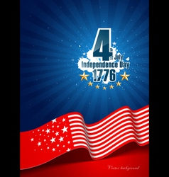 Independence day poster background vector