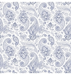 Paisley Hand drawn seamless pattern vector image