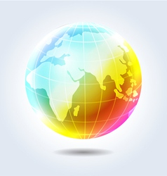 Earth rainbow icon vector