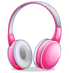 A pink headset vector image