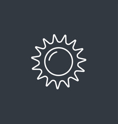 Abstract sun icon vector