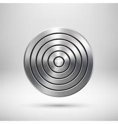 Abstract technology circle metal badge vector