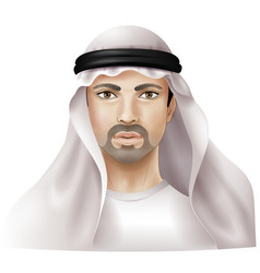 Arab man vector