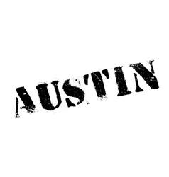Austin stamp rubber grunge vector