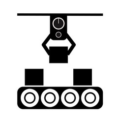 Automated production line icon on white vector