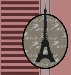 background with eiffel tower vector image vector image