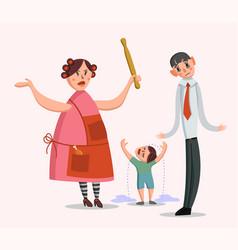 big family quarrel vector image