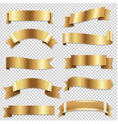 Big golden ribbons se vector