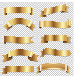 big golden ribbons se vector image vector image