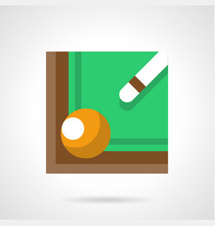 Billiard cue and ball flat color icon vector