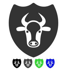 Bull shield flat icon vector