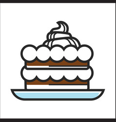 cake with cream vector image vector image