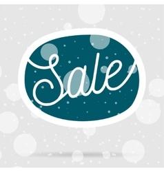 Christmas sale blue bubble on snow background vector