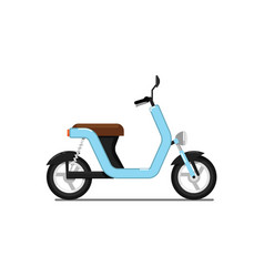 Classic moped isolated on white icon vector