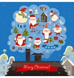 collection of christmas items vector image vector image