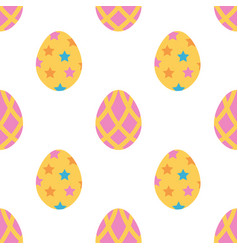 cute colorful easter eggs seamless pattern vector image vector image