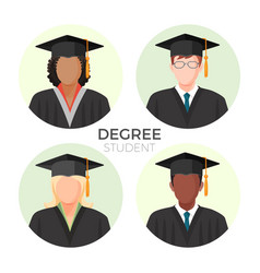 degree student faceless avatars males and female vector image vector image