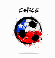 flag of chile as an abstract soccer ball vector image vector image