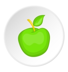 Green apple icon cartoon style vector image