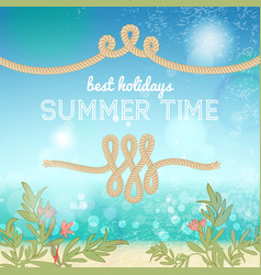 Holiday summer background vector