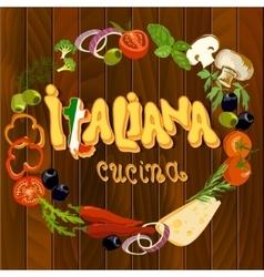 Italian food background vector