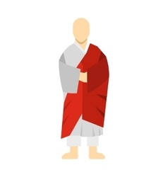 Korean monk icon flat style vector image vector image