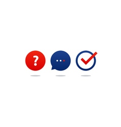Questionair icon set help desk support tutoring vector