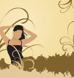 woman in nature vector image vector image