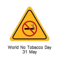 World no tobacco day smoking warning vector