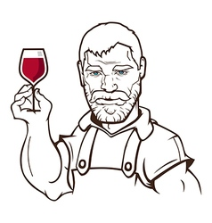 Winemaker vector image