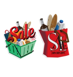 Sale key visual objects vector