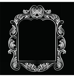 Baroque rococo mirror frame vector