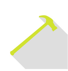 Saw simple icon pear icon with flat style shadow vector