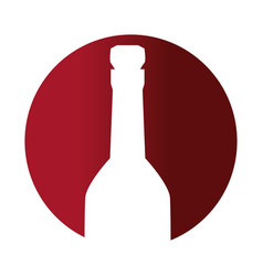 Circular frame with bottle with cork vector